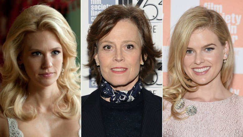 January Jones, Sigourney Weaver, and Alice Eve