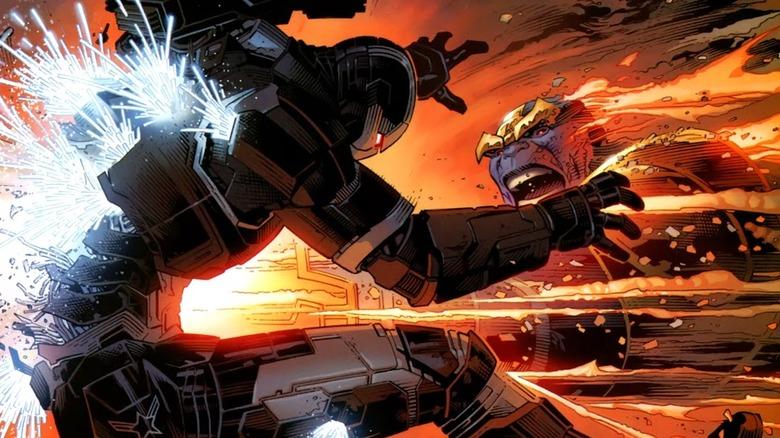 Rhodey vs Thanos