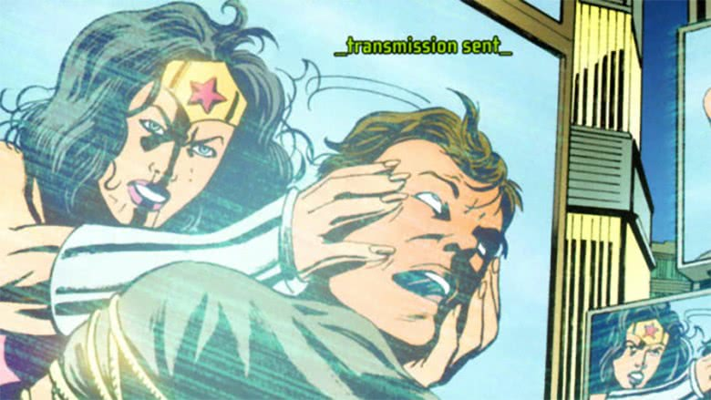 Wonder Woman and Maxwell Lord