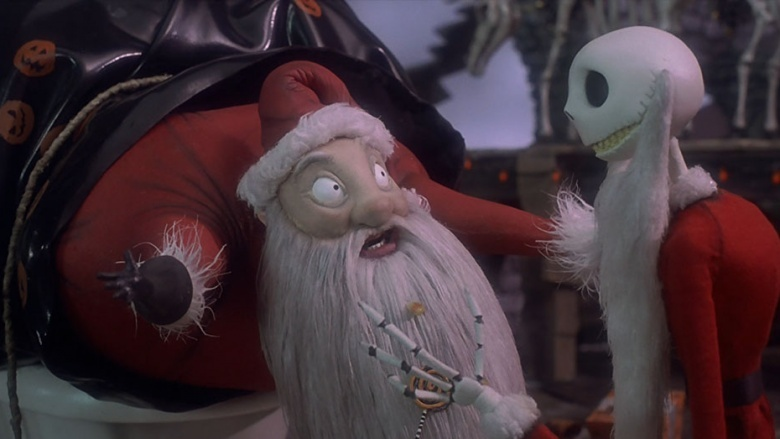 Santa Claus and Jack Skellington