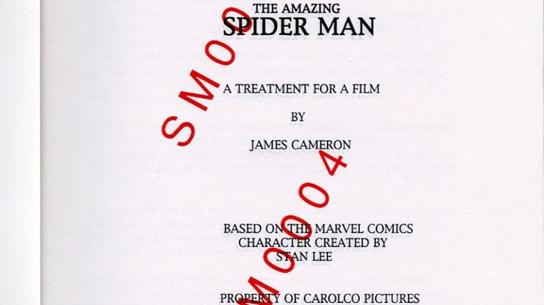James Cameron Spider-Man treatment