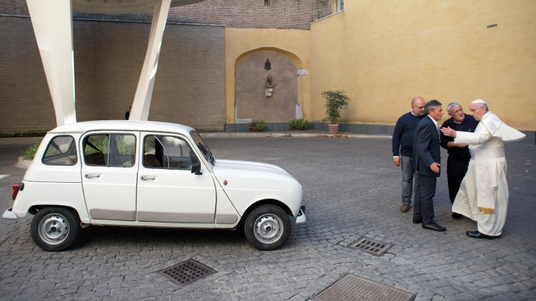 http://img2.looper.com/img/gallery/worst-cars-driven-by-famous-people/pope-francis-renault-4.jpg