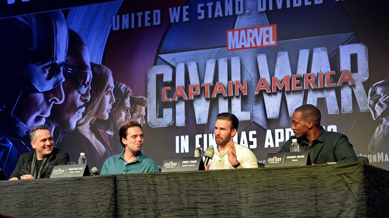 MCU actors at Captain America Civil War press conference