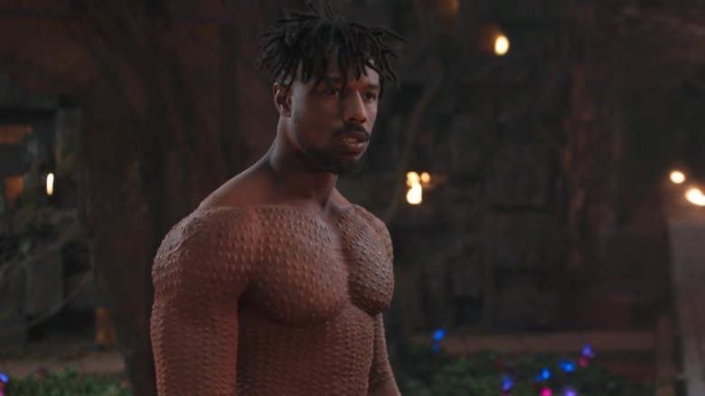 Michael Jordan as Killmonger in Black Panther