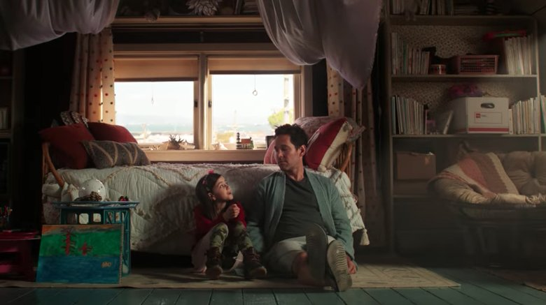 Paul Rudd and Abby Ryder Fortson in Ant-Man and the Wasp
