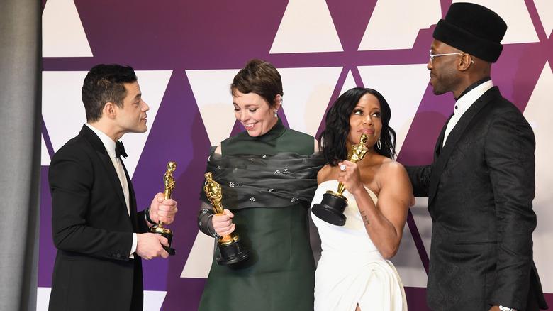 rami malek, Regina King, Olivia Colman, & Mahershala Ali.
