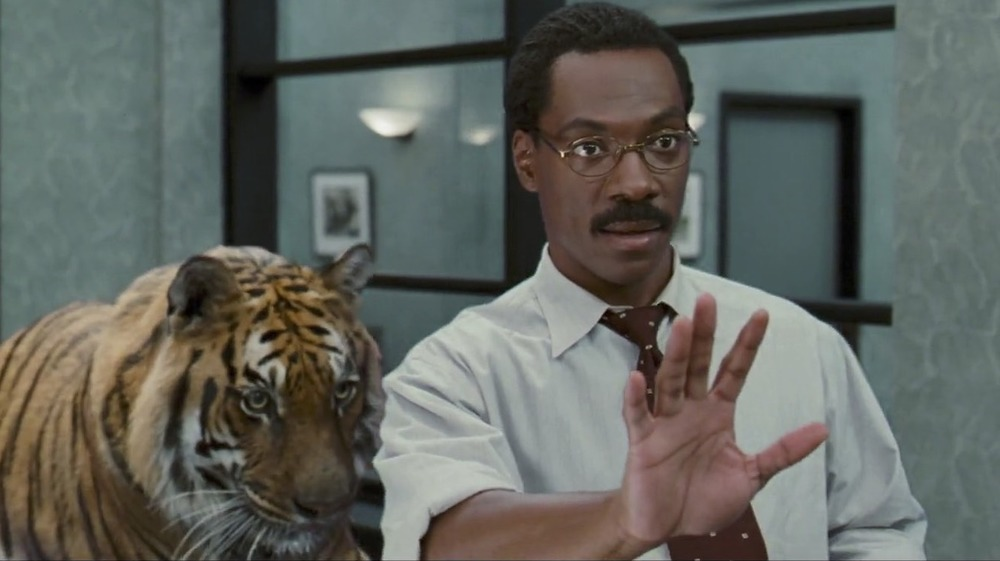 Eddie Murphy with tiger