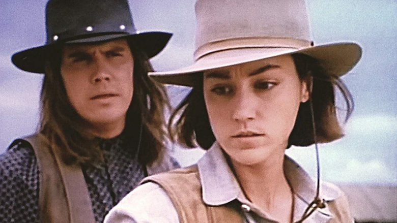 Josh Brolin and Yvonne Suhor in The Young Riders
