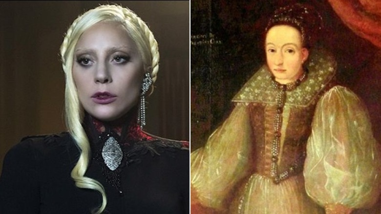 The Countess Elizabeth on American Horror Story and a painting of The Countess Bathory