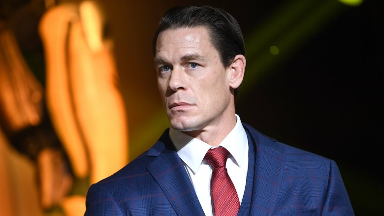 John Cena at a Beijing press conference for Bumblebee