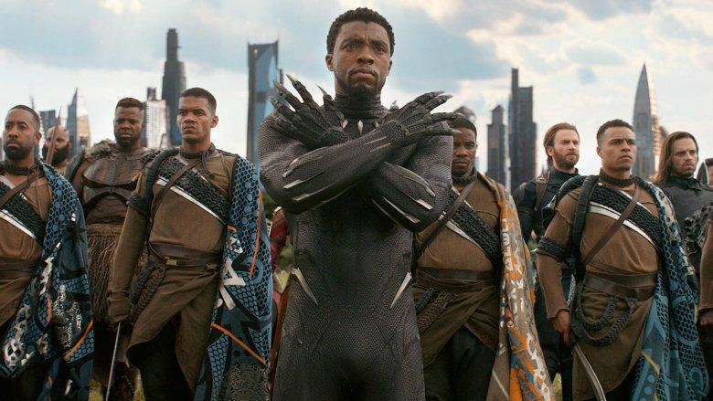 Chadwick Boseman as T'Challa/Black Panther in Avengers Infinity War