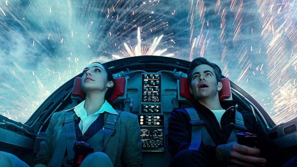 Diana and Steve flying wonderment