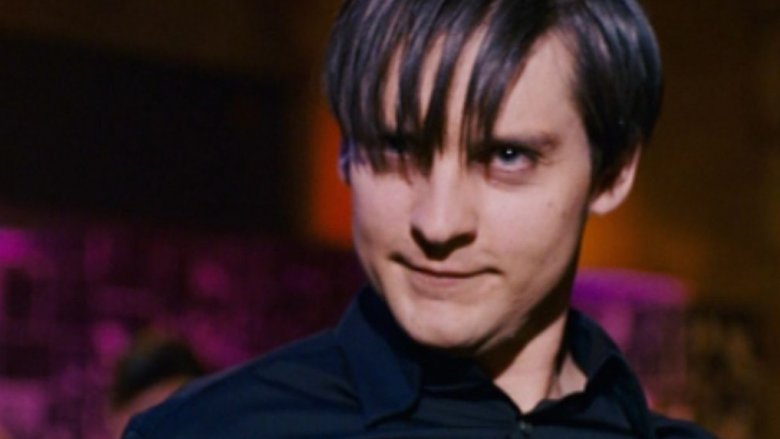 Toby Maguire as a Venom-infected Peter Parker in 2007's Spider-Man 3