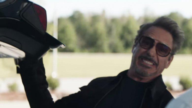 Robert Downey Jr. Tronco de Tony Stark Avengers Endgame blooper