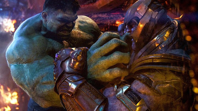 Hulk and Thanos in Avengers: Infinity War