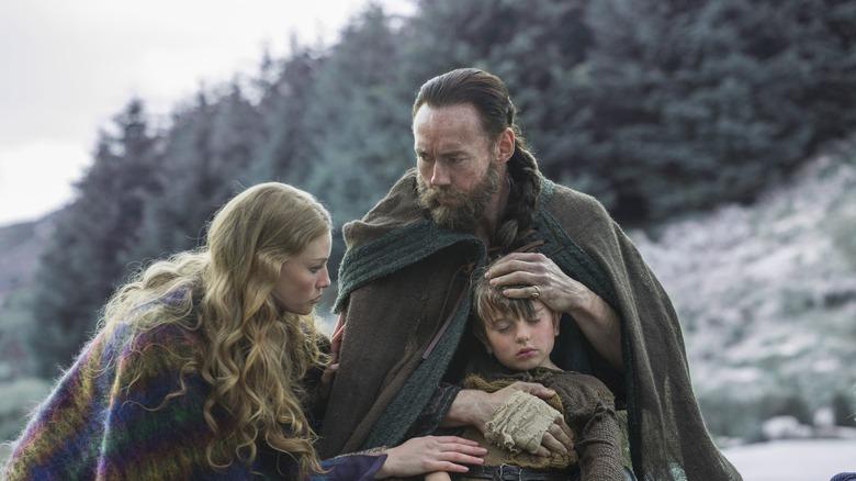 Harbard and Aslaug with boy