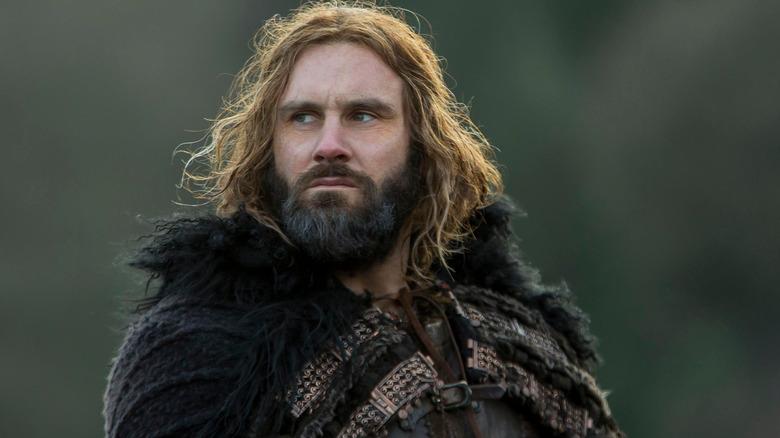 Viking Rollo peering into distance