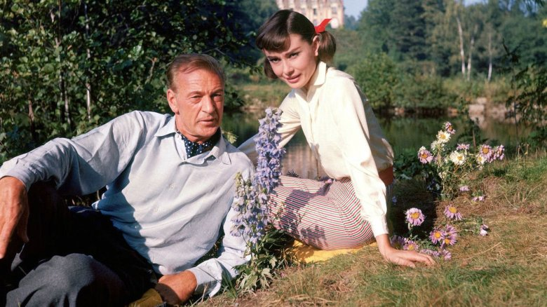Gary Cooper and Audrey Hepburn in Love in the Afternoon