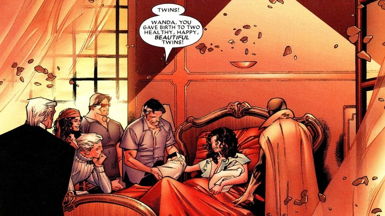 Scarlet Witch giving birth