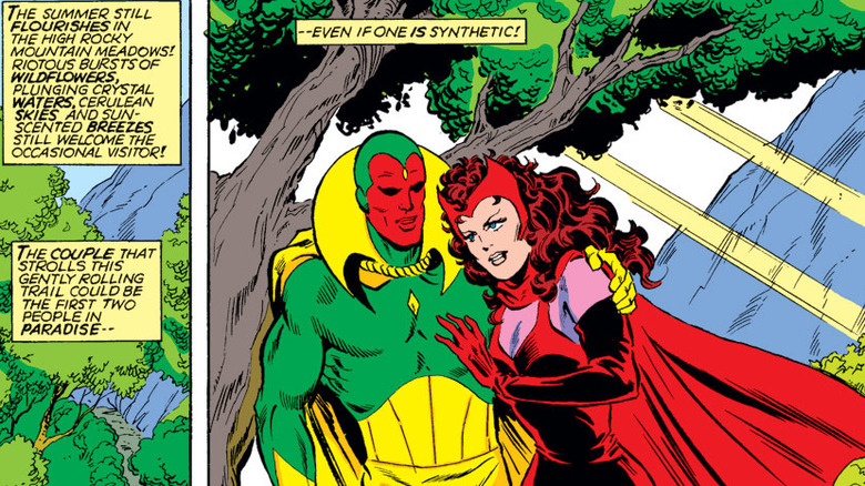 Vision and Scarlet Witch hike