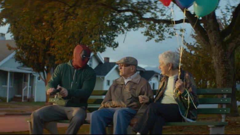 Deadpool 2 Up deleted scene park bench