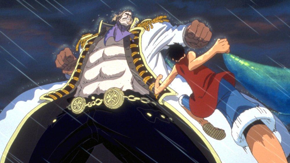 Monkey D. Luffy luchando contra Gasparde en Dead End Adventure