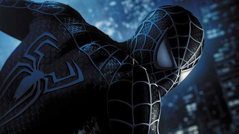 Tobey Maguire in the black Spider-Man suit from Spider-Man 3