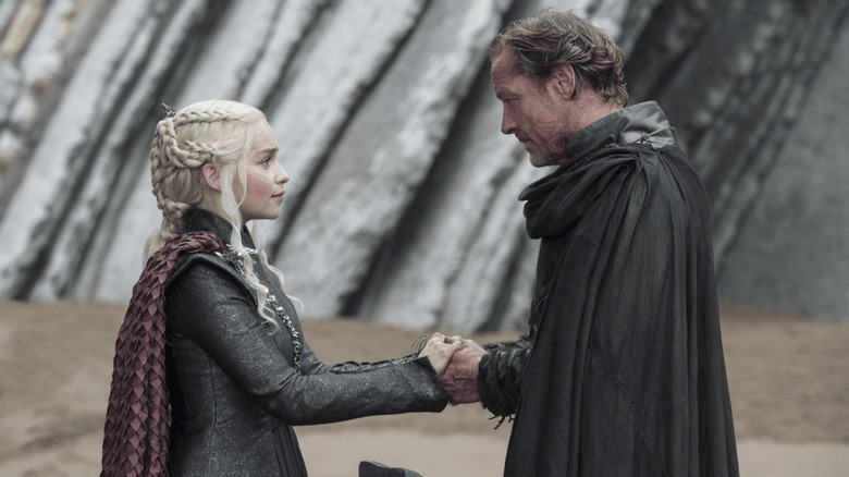 Jorah Mormont and Daenerys Targaryen