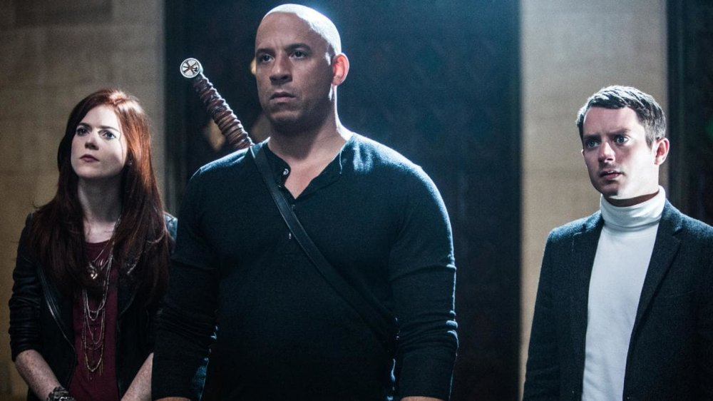 Vin Diesel, Rose Leslie, and Elijah Wood in The Last Witch Hunter