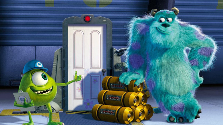 Sulley and Mike smiling