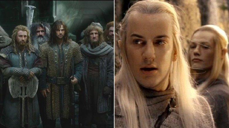 dwarves The Hobbit, Haldir and Lorien elf