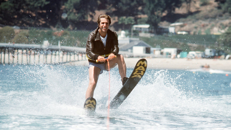 Fonzie about to Jump the Shark