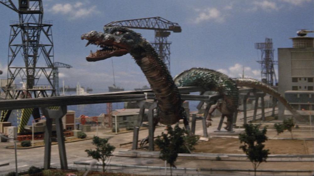 Manda in Destroy All Monsters, Godzilla