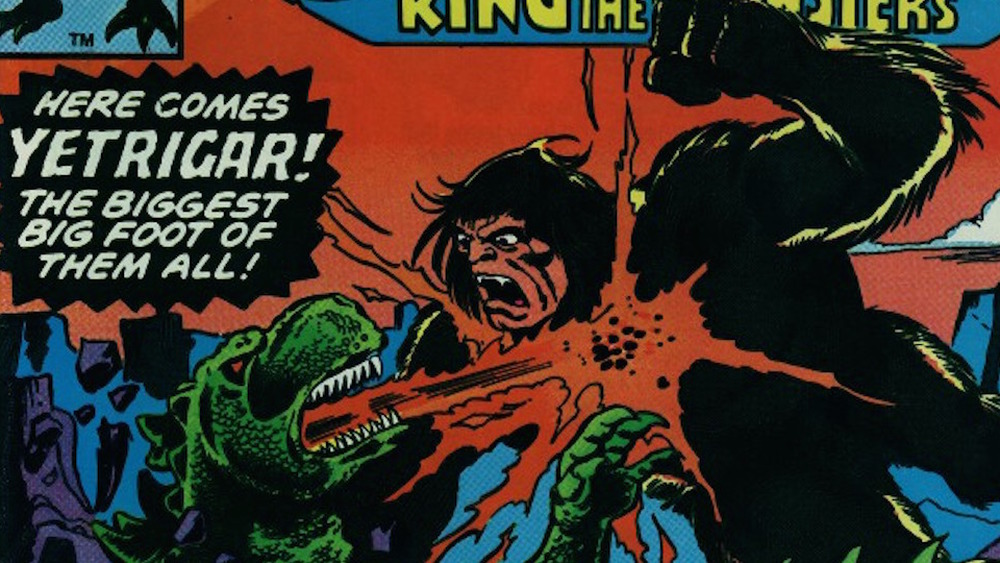 Yetrigar and Godzilla on the cover of Godzilla, King of the Monsters