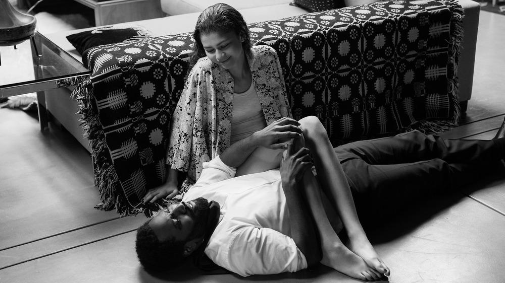 Zendaya and John David Washington in Malcolm & Marie