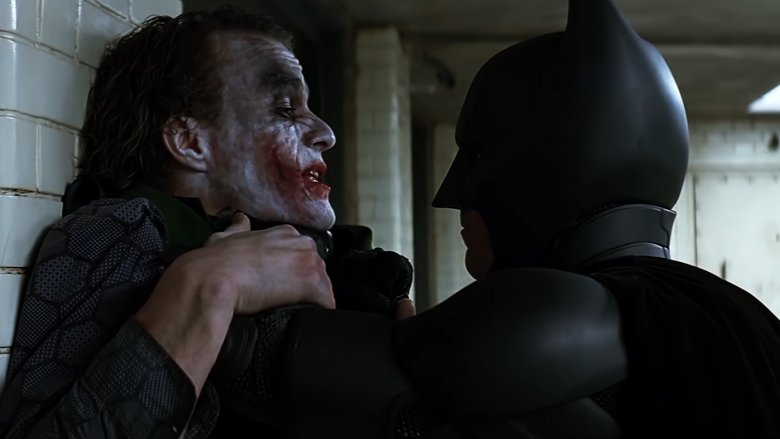 Heath Ledger and Christian Bale in The Dark Knight