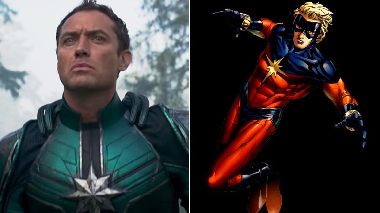 Jude Law as Mar-Vell/Art by Jim Cheung