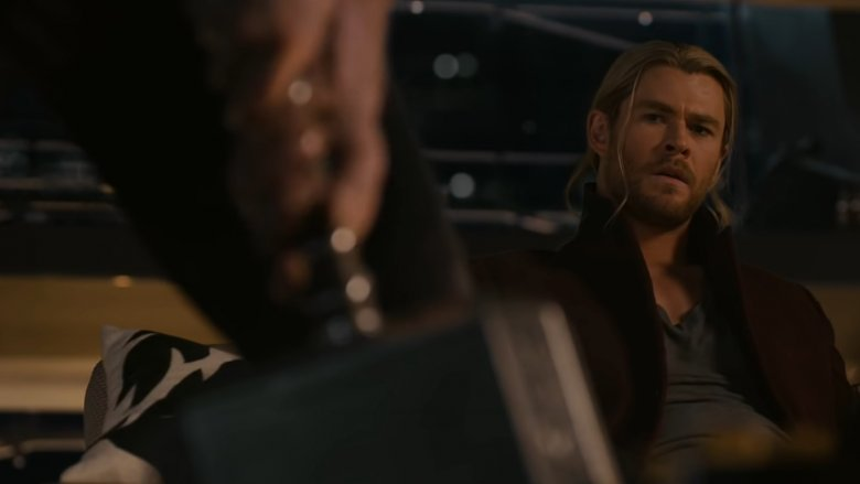 Thor's face when Cap almost lifted Mjolnir