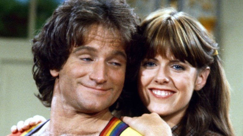 Robin Williams and Pam Dawber in Mork & Mindy