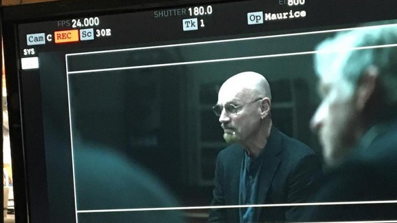 Jim Starlin on the set of Avengers: Endgame