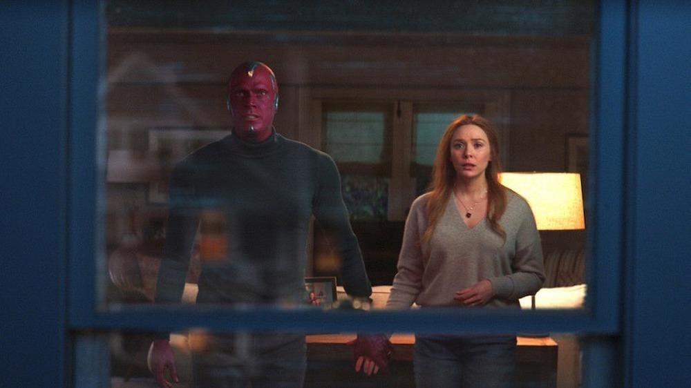 Wanda and Vision together