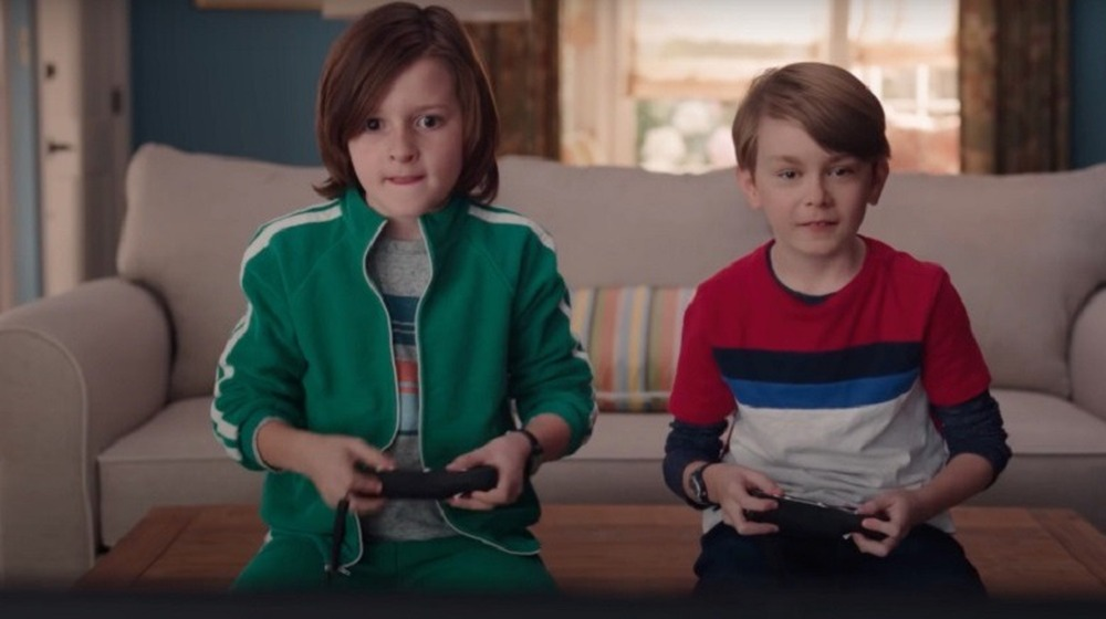Billy and Tommy play a video game on WandaVision