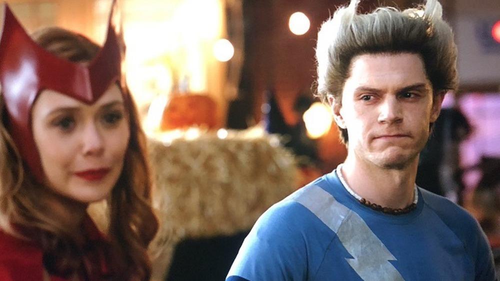 A very self-aware Pietro looks at Wanda in WandaVision