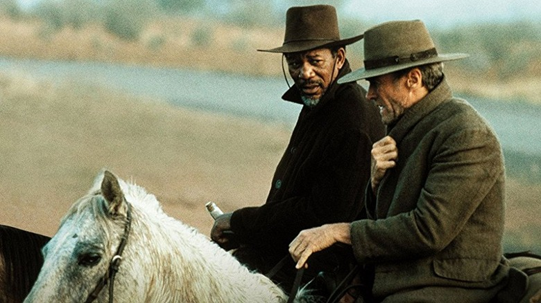 Morgan Freeman and Clint Eastwood in Unforgiven