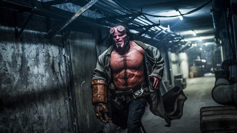 Hellboy running