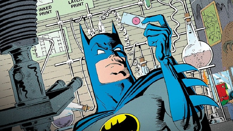Batman doing detective work