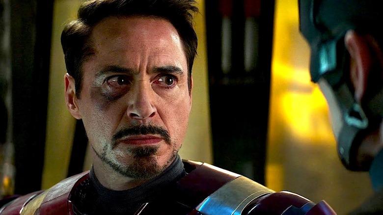 Injured Tony glares