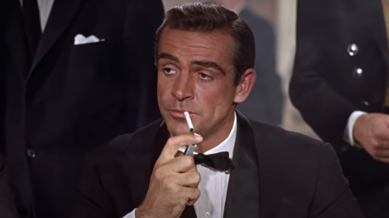 Sean Connery lights up