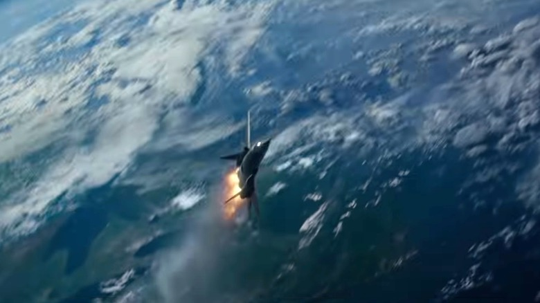 The X-Jet hurtles through space