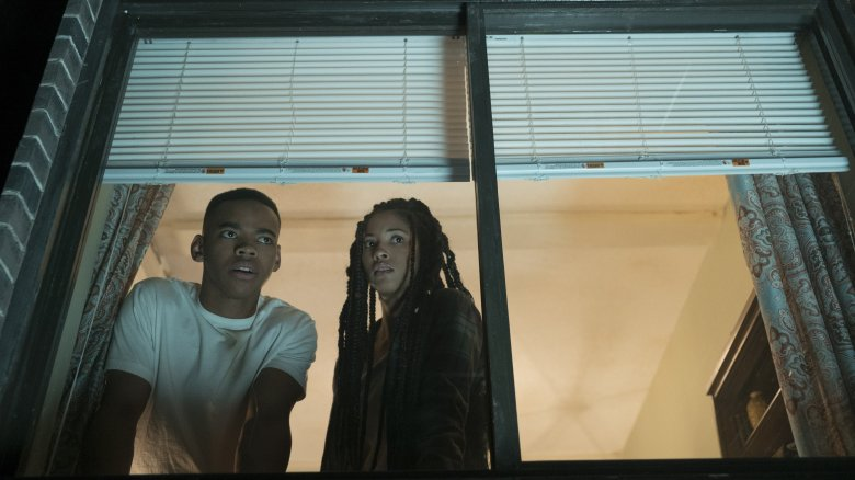 Joivan Wade and Lex Scott Davis in The First Purge